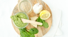 Homemade spinaziepesto