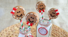 Advent 12: Gingerbread Man Oreo Pops
