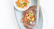 Mexicaanse steak met maïssalsa