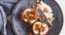 Appelcrumble met noten