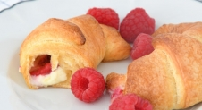 frambozen cheesecake croissants