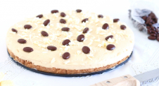 Cappuccino cheesecake met witte chocolade