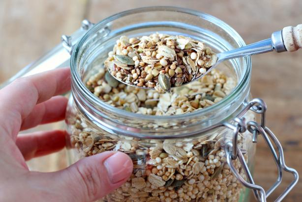 Muesli met boekweit en gepofte quinoa