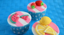 zomerse fruit cupcakes