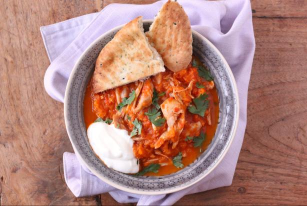 Curry met kip, pompoen en garam masala