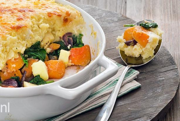 pompoen ovenschotel vegetarisch