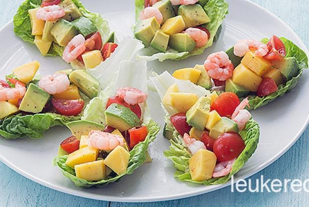 mango salade met garnalen. Black Bedroom Furniture Sets. Home Design Ideas