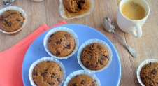 Chocolate chip koffie muffins