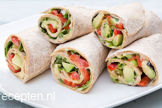 recept voor lunch wrap met avocado. Black Bedroom Furniture Sets. Home Design Ideas