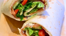 Lunch Wrap met zalm en roomkaas