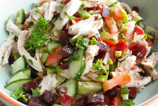 salade recepten met kip