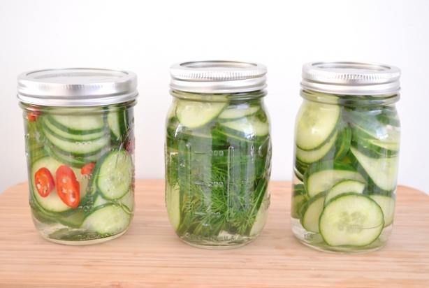 Recept voor komkommers inmaken - De komkommers ...
