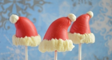 Advent 16: Kerstmuts marsepein pops