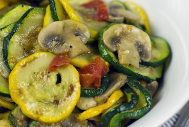recept courgette en champignons
