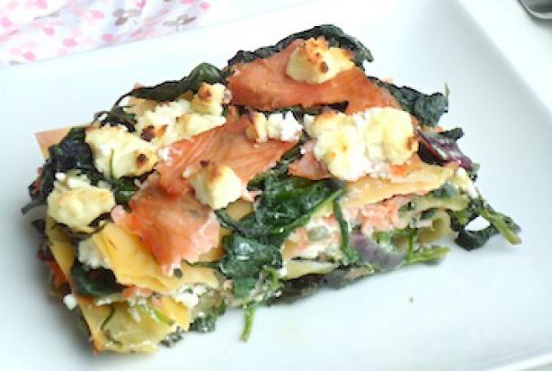 zalm met spinazie recept
