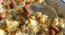 Baked oats met appel en noten
