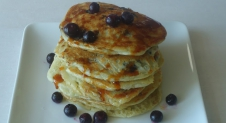 American Pancakes met blueberries