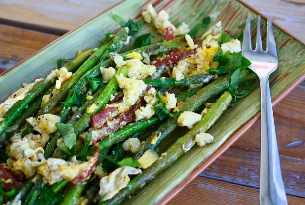 recept groene aspergepuntjes