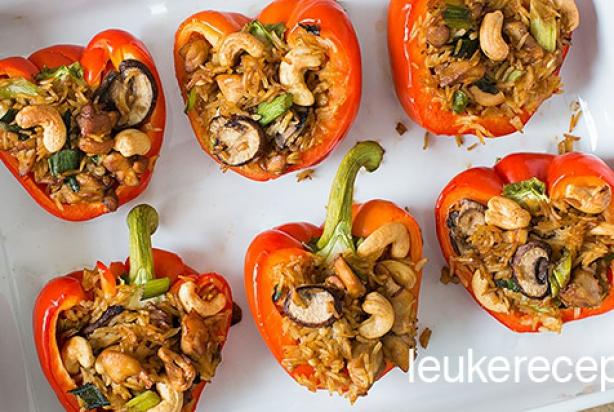 recept paprika champignons