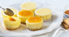 Glutenvrije mini cheesecakes met salty caramel