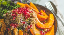 Vegan Autumn Rainbow Salad
