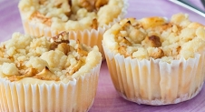 Apple crumble cheesecakejes