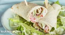 BLT Wraps met yoghurtdressing