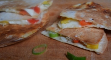 5 or less: Quesadilla's met brie en mango