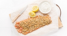 Hele zalm met dukkah – Feel Good Food Kerstmenu