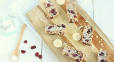 No bake repen met cranberries en kokos