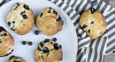 Blueberry scones met citroen