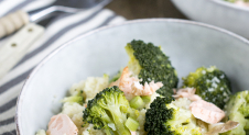 Couscous met broccoli en zalm