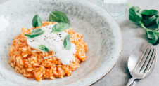 One Pot: Tomaten risotto met burrata