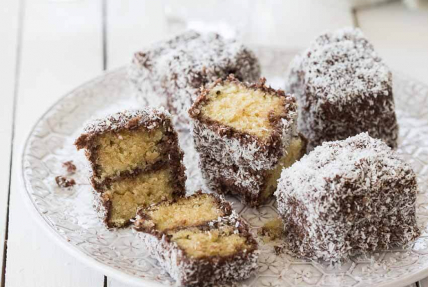 Kokos lamington's