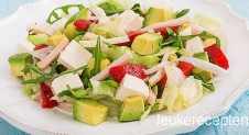 Lunch salade met avocado
