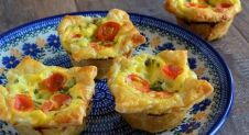 Mini Caprese Quiches