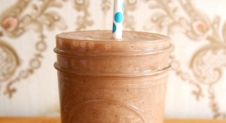 Recept: banaan- raw cacao – cashew – almond smoothie