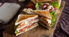 De ultieme club sandwich is homemade