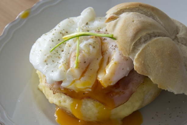 Bacon and Eggs Benedict Style