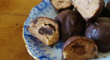 Raw Chocolate Chip Cookie Dough Balls (glutenvrij)