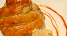 Peer in Bladerdeeg met Chai Tea Latte ijs