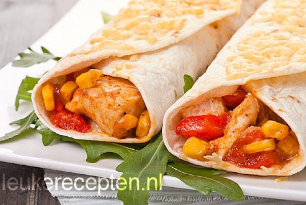 Fabulous Recept voor wraps met kip, paprika en maïs - Foody.nl @RC11