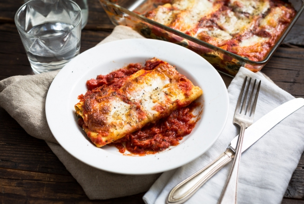 Cannelloni met spinazie & ricotta