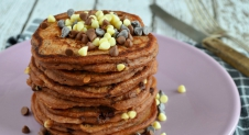 Triple chocolate chip pancakes