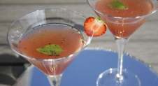 Gin Strawberry Basil Martini