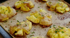 Crispy smashed potatoes