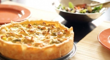 Quiche met broccoli en kip