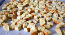 Knoflook croutons