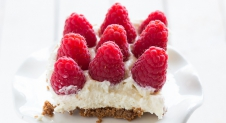 Supersimpele cheesecake met frambozen