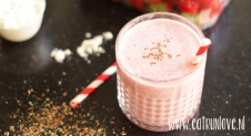 Smoothie met rood fruit